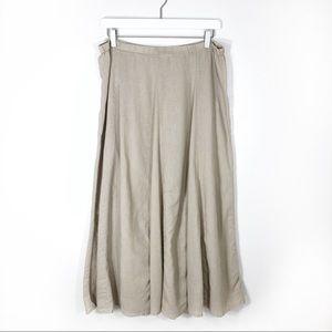 Old Navy linen flowy maxi skirt khaki medium